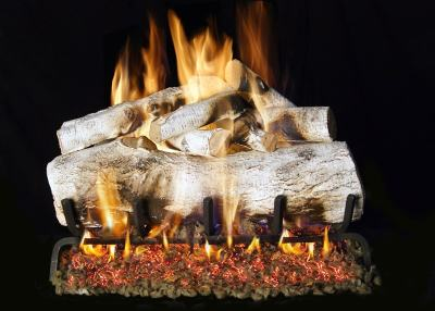 Image of RH Peterson Real-Fyre Mountain Birch Designer Log Set