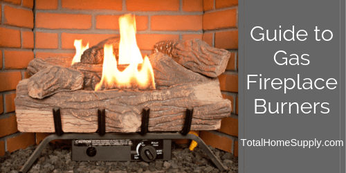 Gas fireplace burner guide