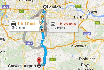How to go to Gatwick airport from London?