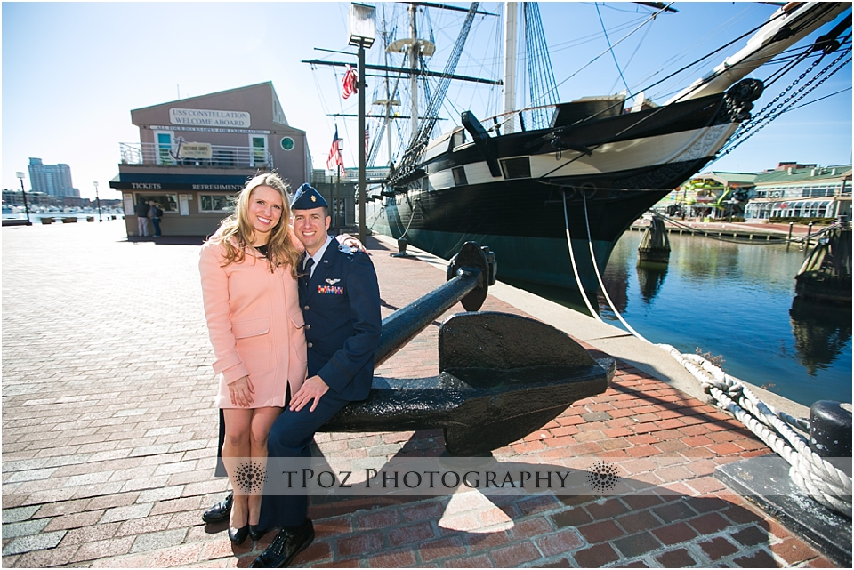 Baltimore Engagement Photos USS Constellation