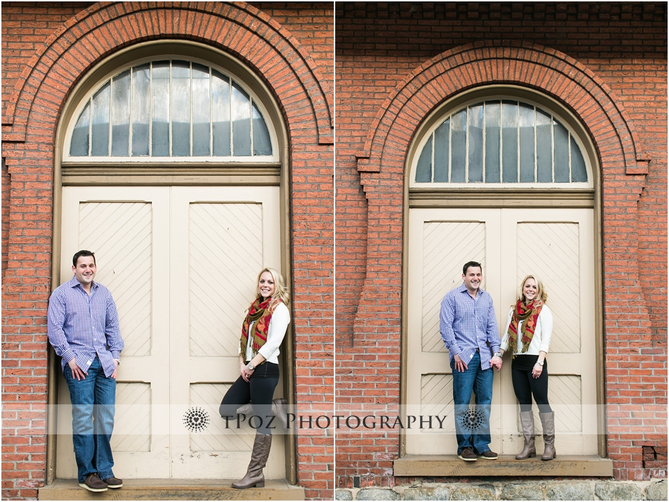 Ellicott City Engagement Photos at Train Museum