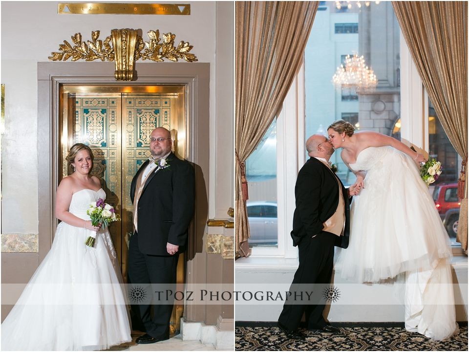 The Belvedere Elevator Wedding Photo