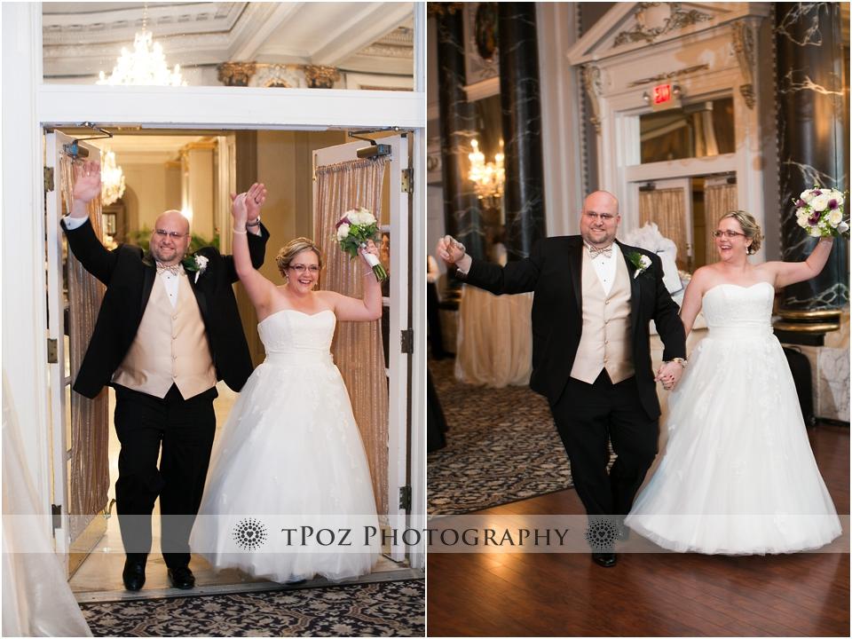 The Belvedere Charles Ballroom wedding reception