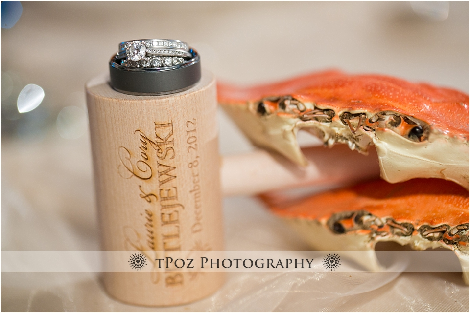 Crab mallet wedding details