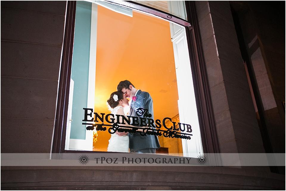Engineers Club Wedding Bride & Groom