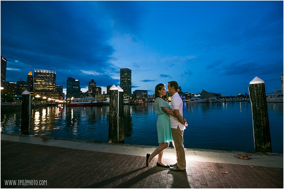 Baltimore Inner Harbor Engagement Photo