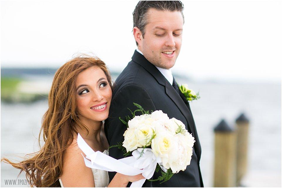 Rehoboth Beach Wedding Portraits Bride and Groom