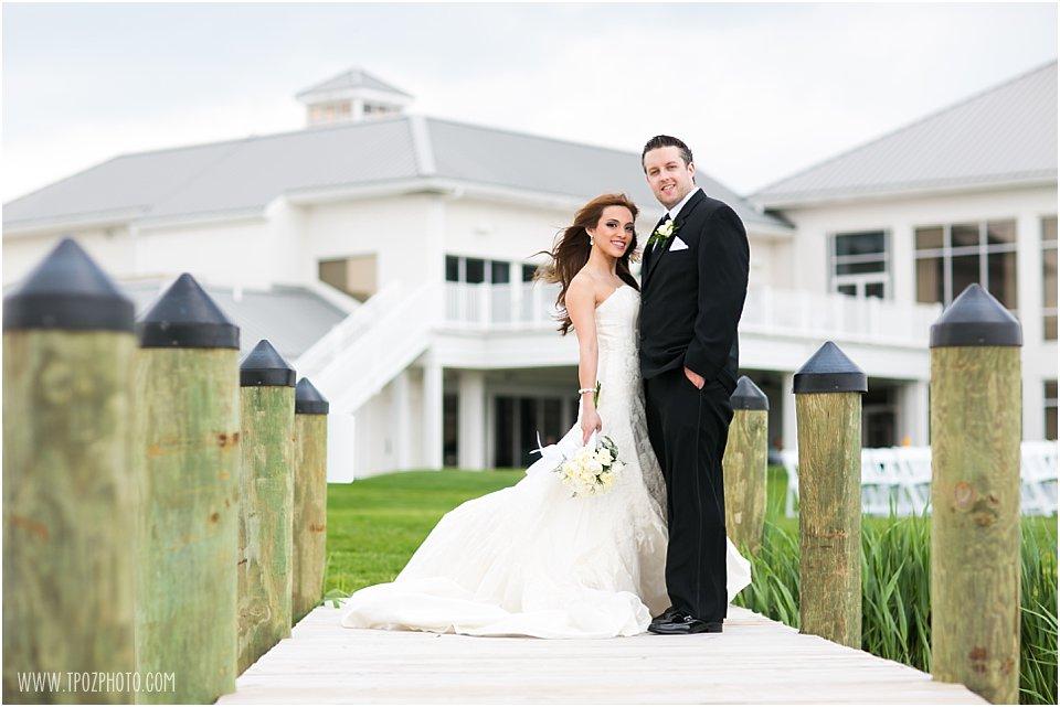 Rehoboth Beach Country Club Wedding Portraits Bride and Groom