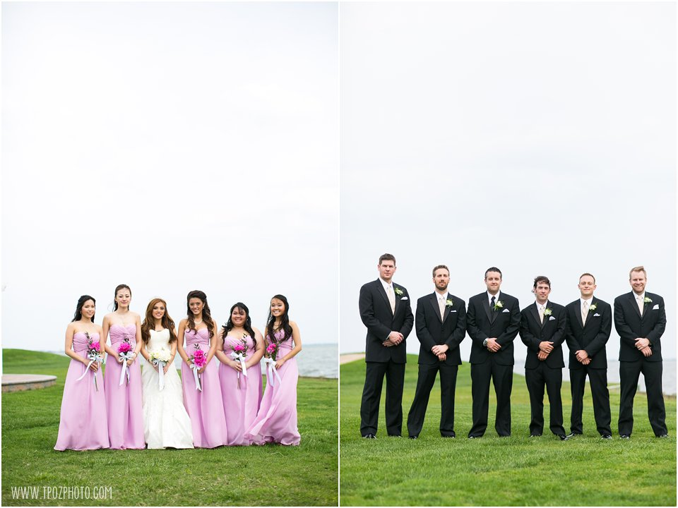 Rehoboth Beach Country Club Wedding Portraits Bridesmaids
