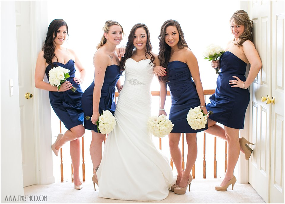 Beautiful Bridesmaids in navy