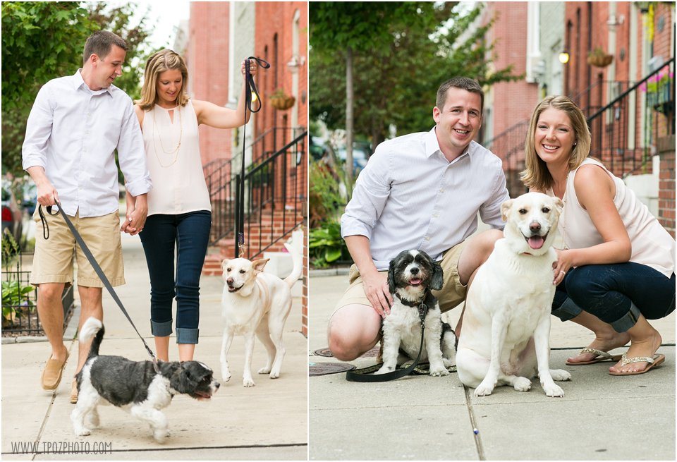 Canton Engagement Session with dogs