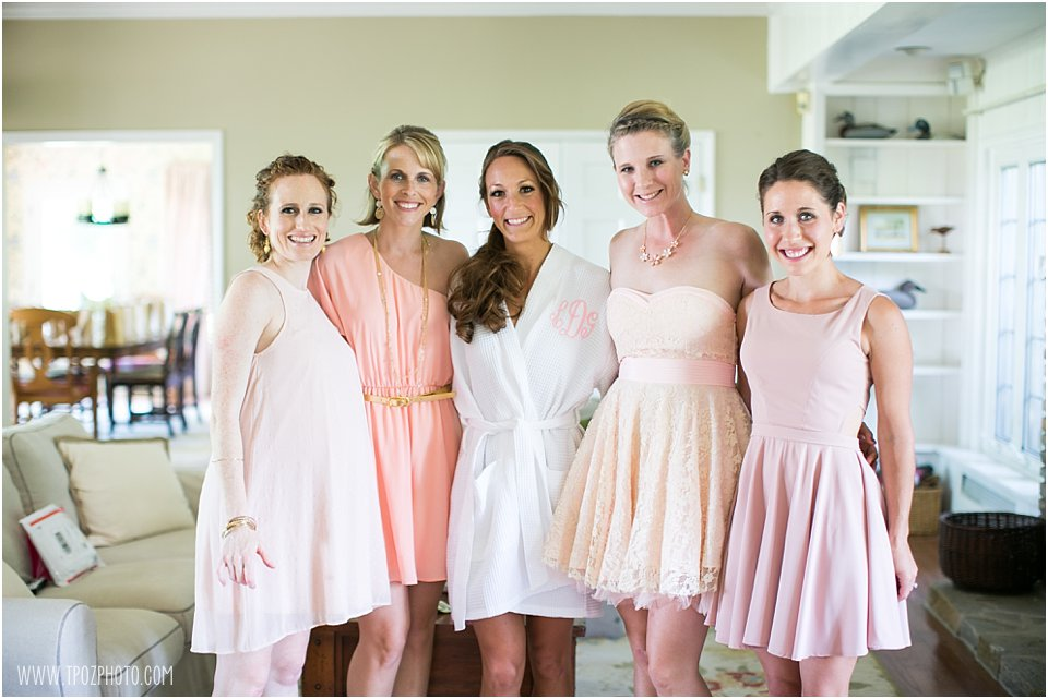 Wedding getting ready bride & bridesmaids