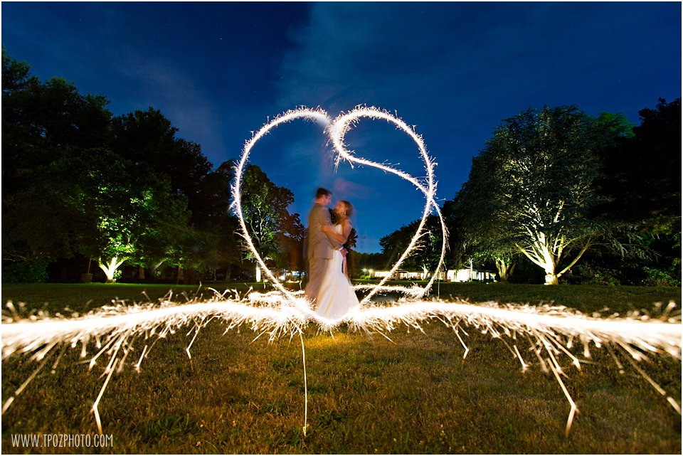 Heart Sparklers Photo at wedding