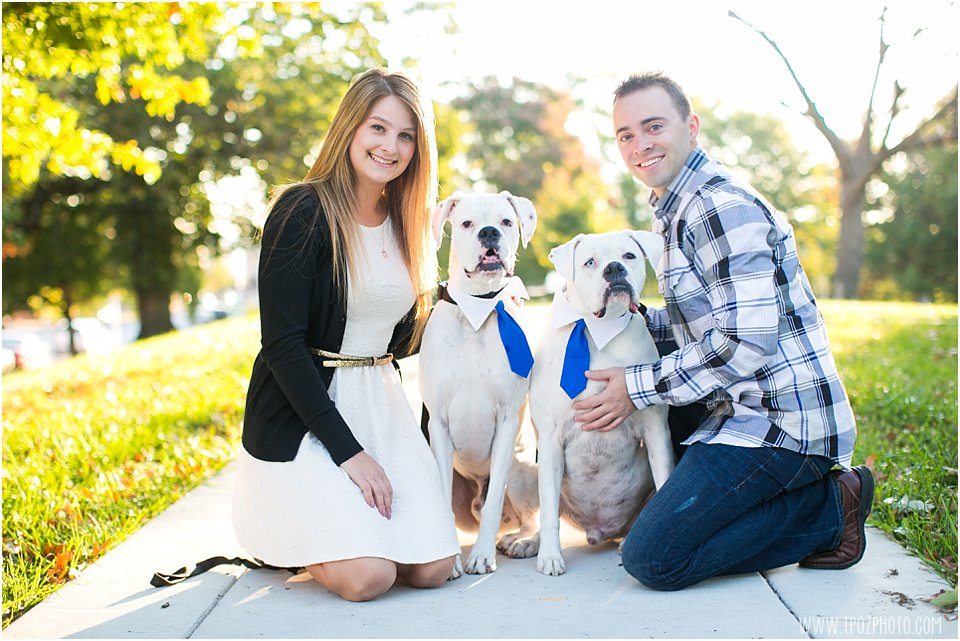 Baltimore Engagement Session with dogs