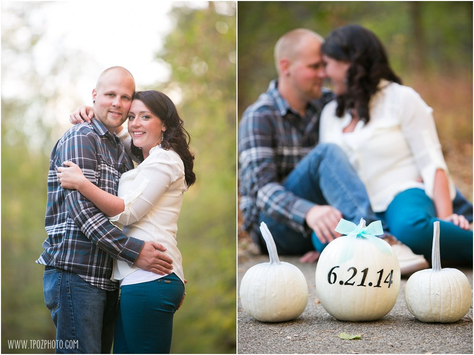 Save the Date Pumpkin Engagement Photos