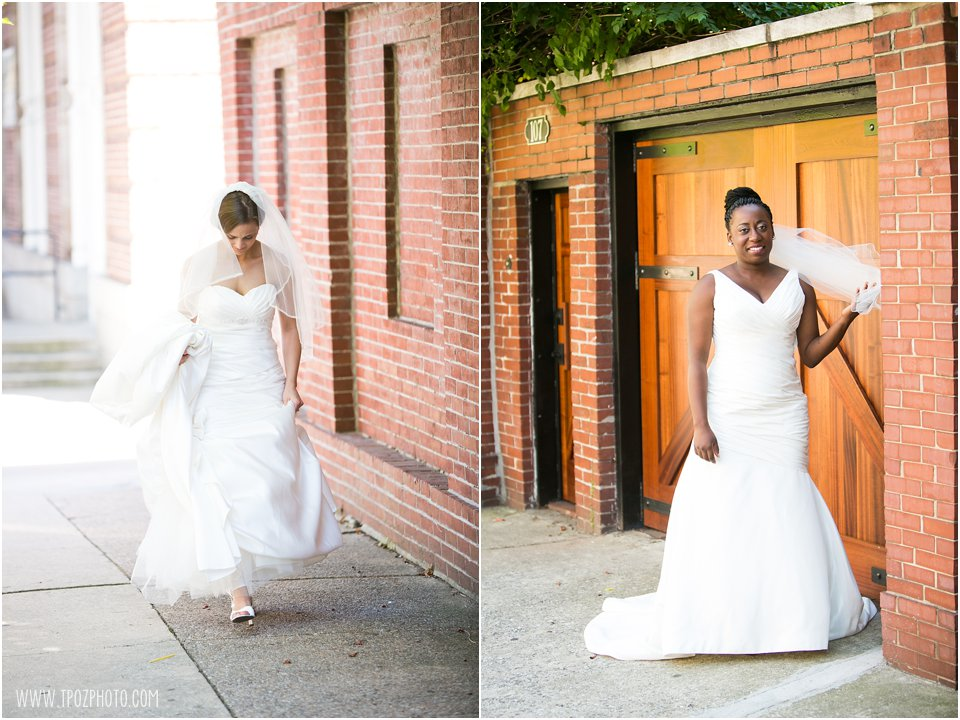 Baltimore Same-Sex wedding brides First Look