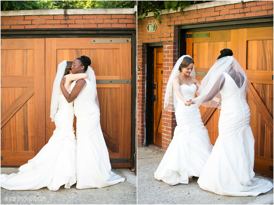 Baltimore Same-Sex wedding brides First Look