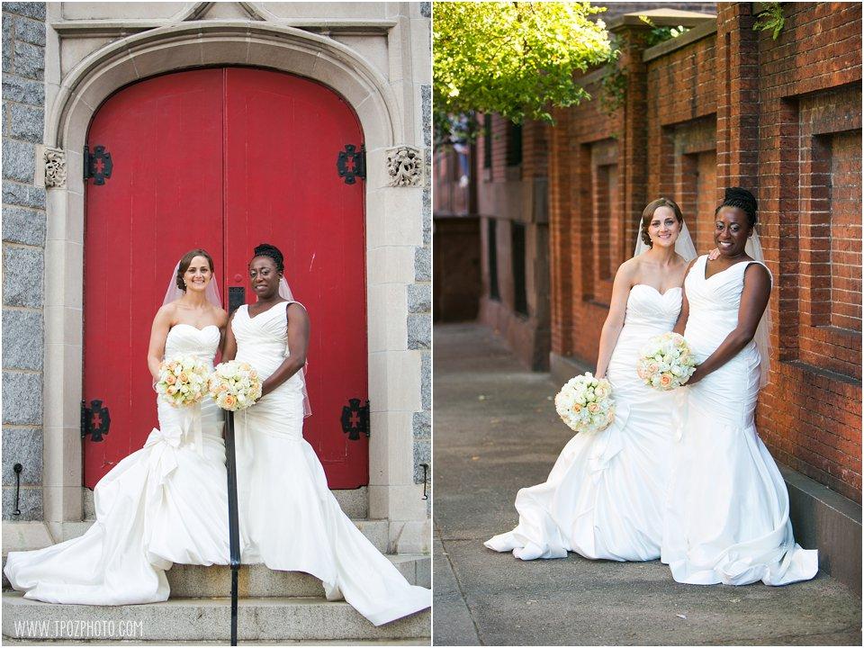 Baltimore Same-sex wedding bridal portraits