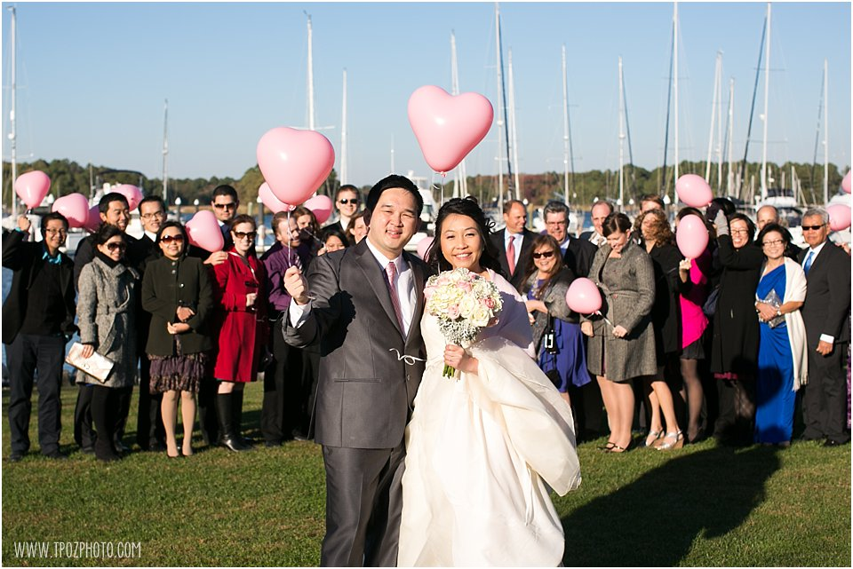 heart balloons Wedding at Osprey Point