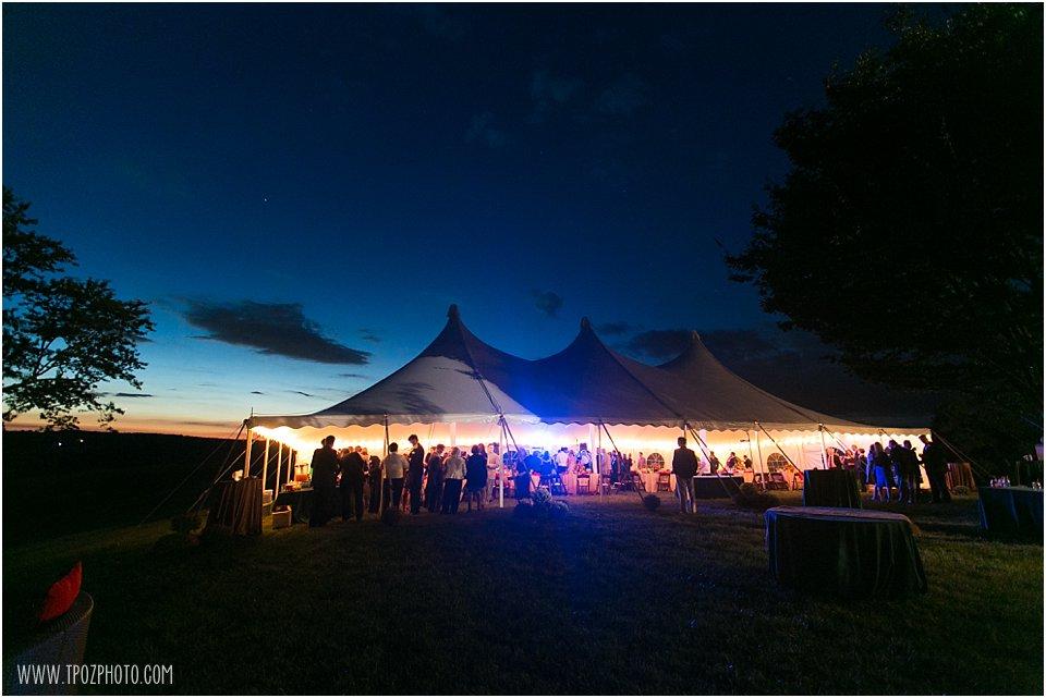 Sagamore Farm Wedding Reception - tented wedding