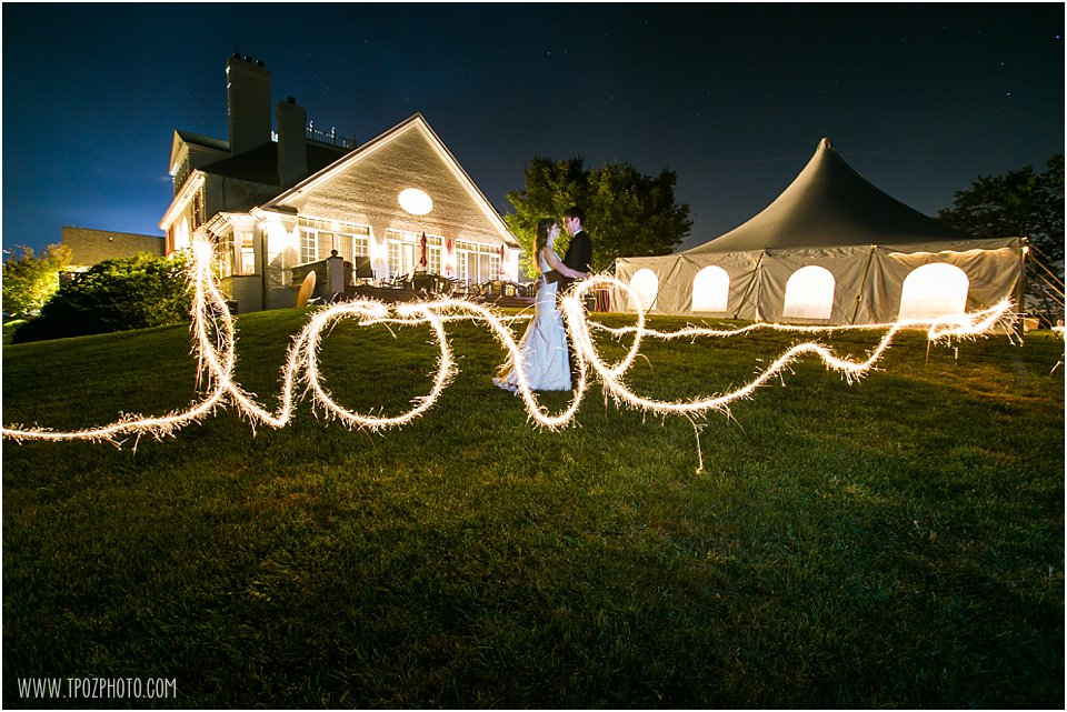 Sagamore Farm sparklers wedding photos