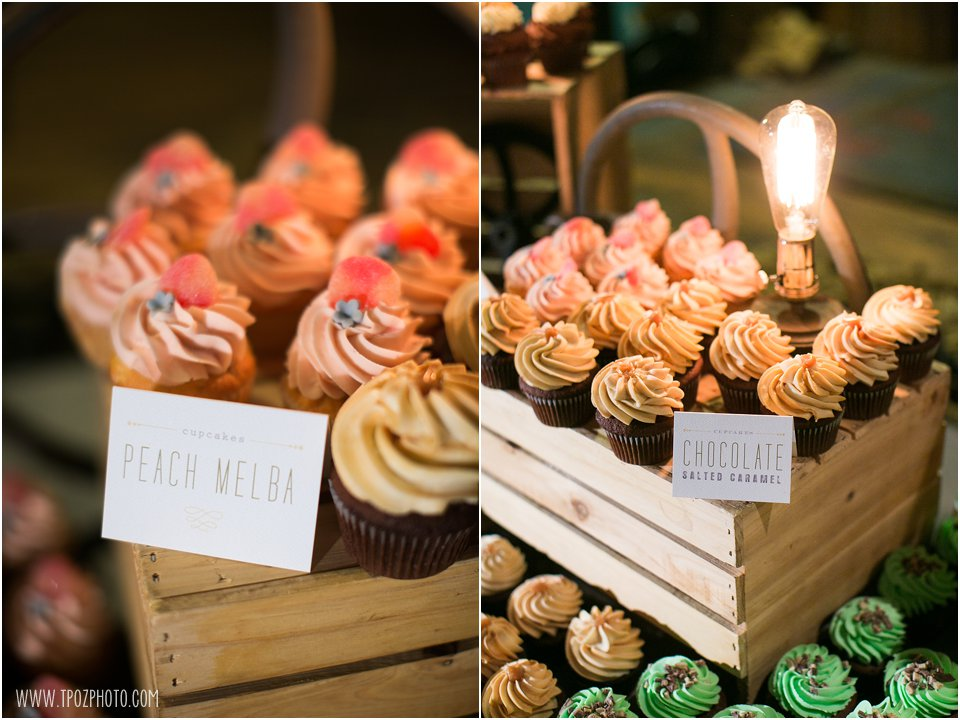 Iced Gems Cupcakes at wedding
