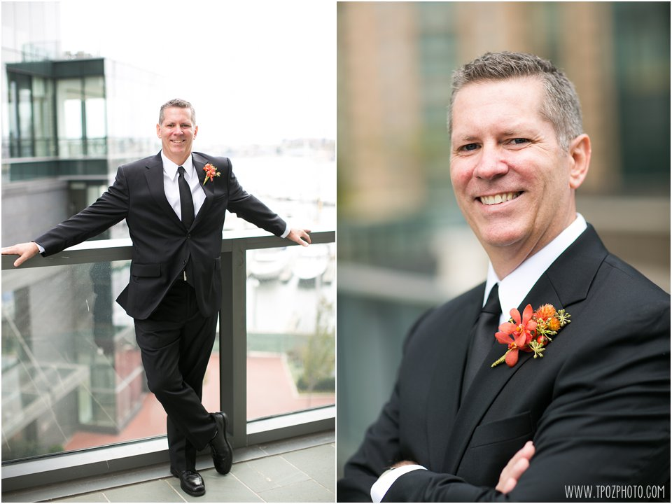 Groom portraits at the Four Seasons Baltimore
