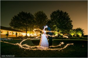 Sparkler photos wedding at Suburban Club in Maryland