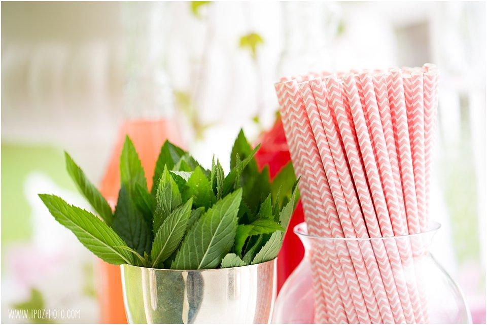 pink chevron straws