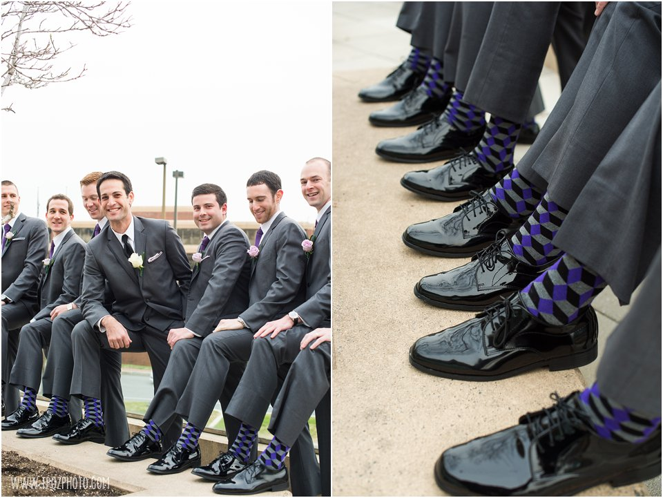 Groomsmen purple socks