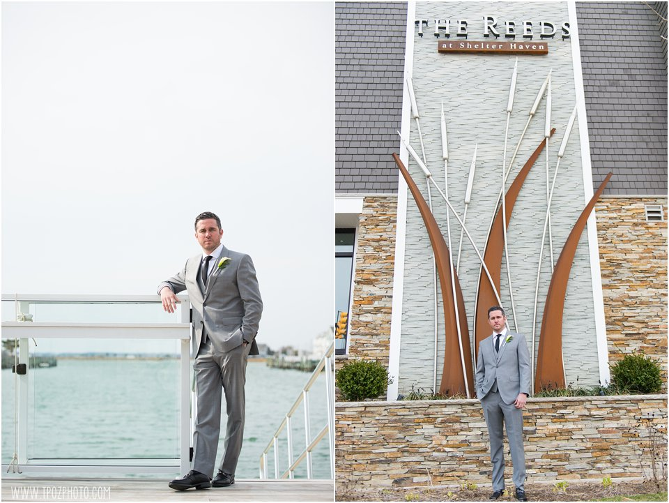 Groom Portraits The Reeds at Shelter Haven Wedding in Jersey