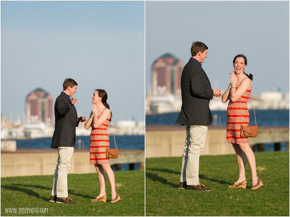 Fells Point Engagement Proposal Photos