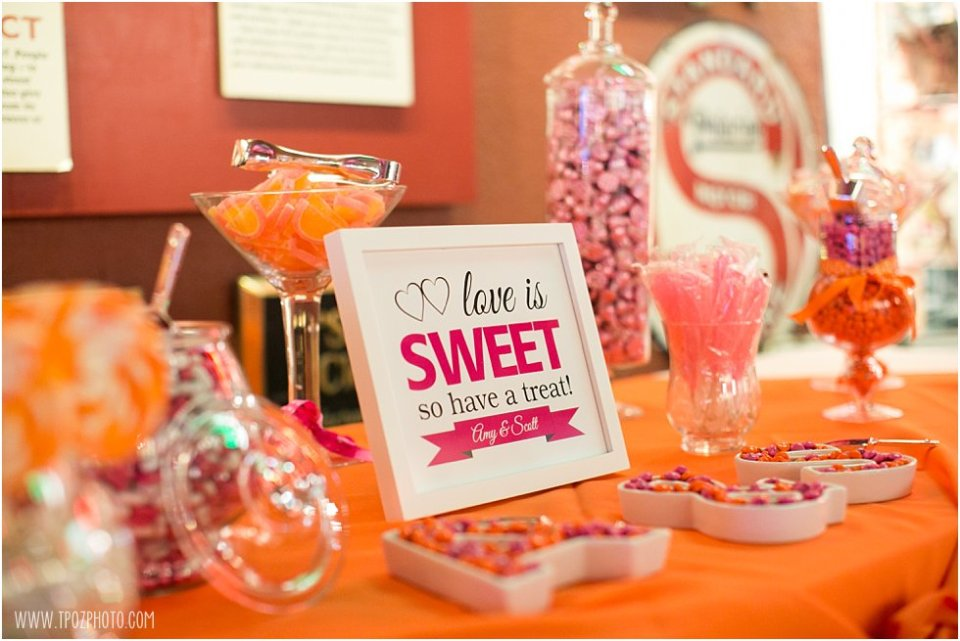 Candy Buffet Wedding at the Baltimore Museum of Industry