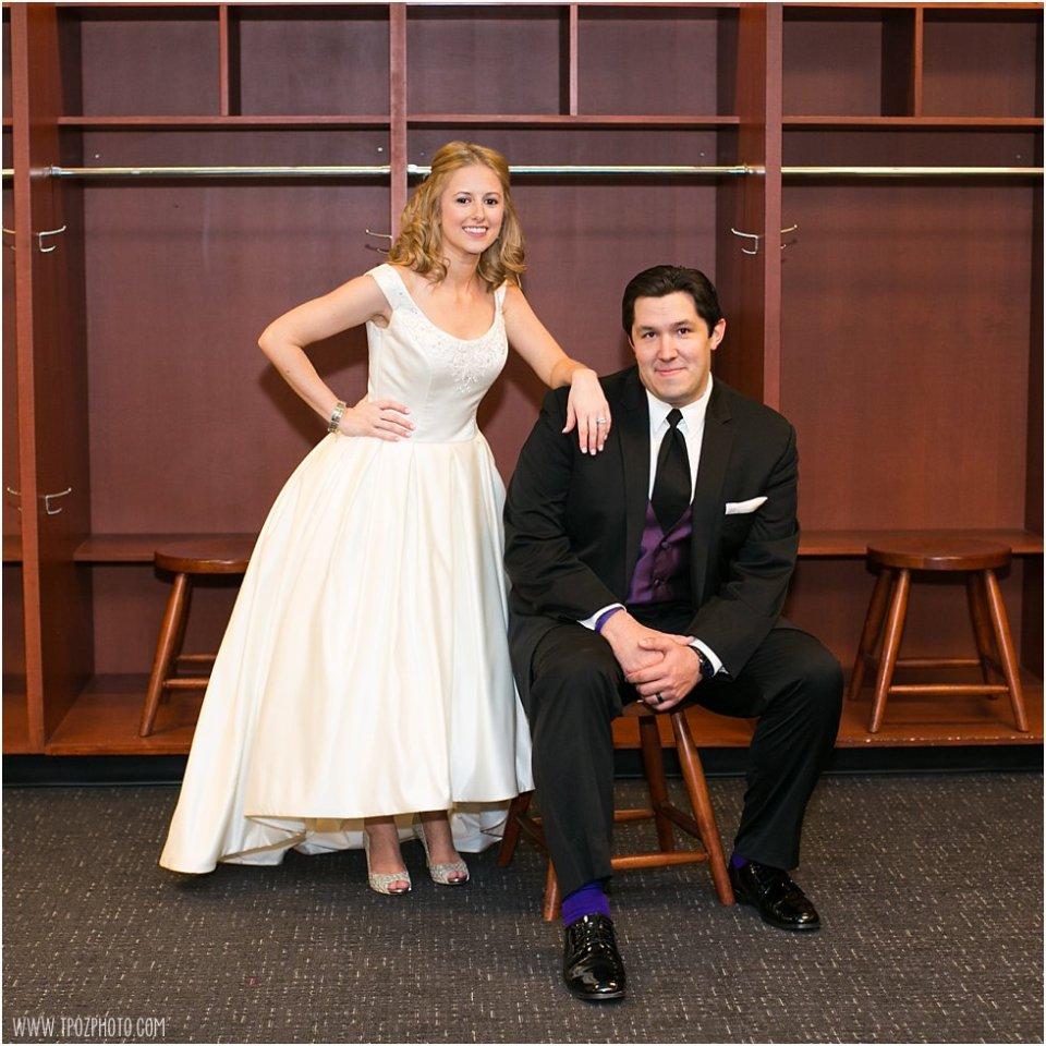 Ravens Stadium Locker Room Wedding Photos