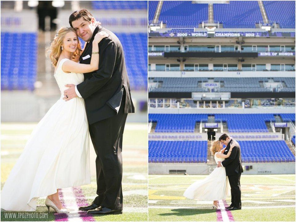 Ravens Stadium Wedding Photos