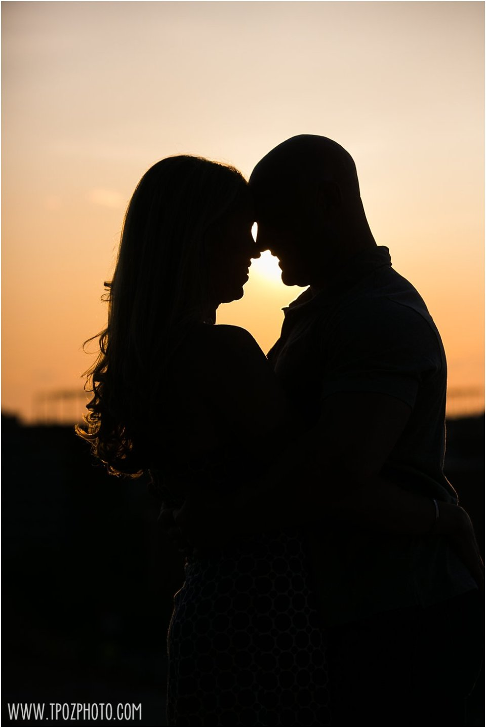 Sunset Silhouette Engagement Photos