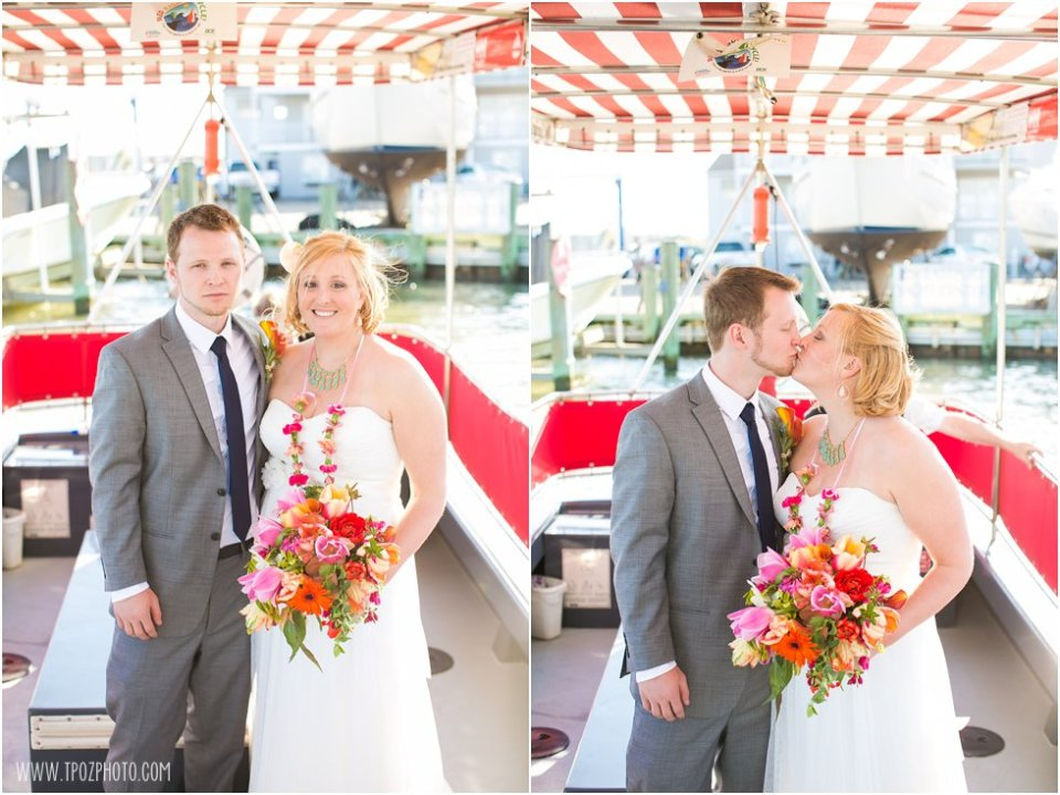 Annapolis Water Taxi Wedding Photos • tPoz Photography • www.tpozphoto.com