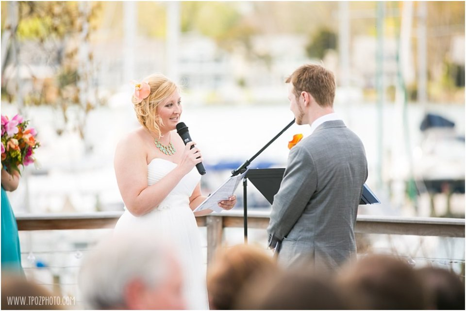 Port Annapolis Marina Wedding Ceremony • tPoz Photography • www.tpozphoto.com