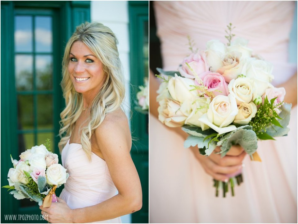 Bridesmaids in Pink - Wedding at Elk Manor Winery  •  tPoz Photography  •  www.tpozphoto.com