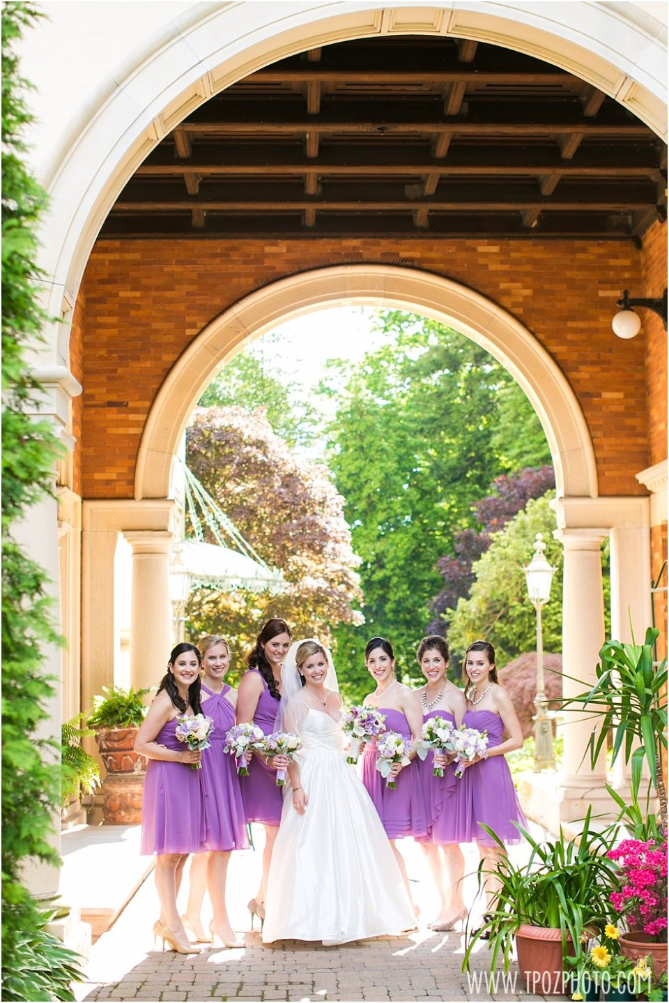 Evergreen Museum and Library Wedding Photos Bridesmaids