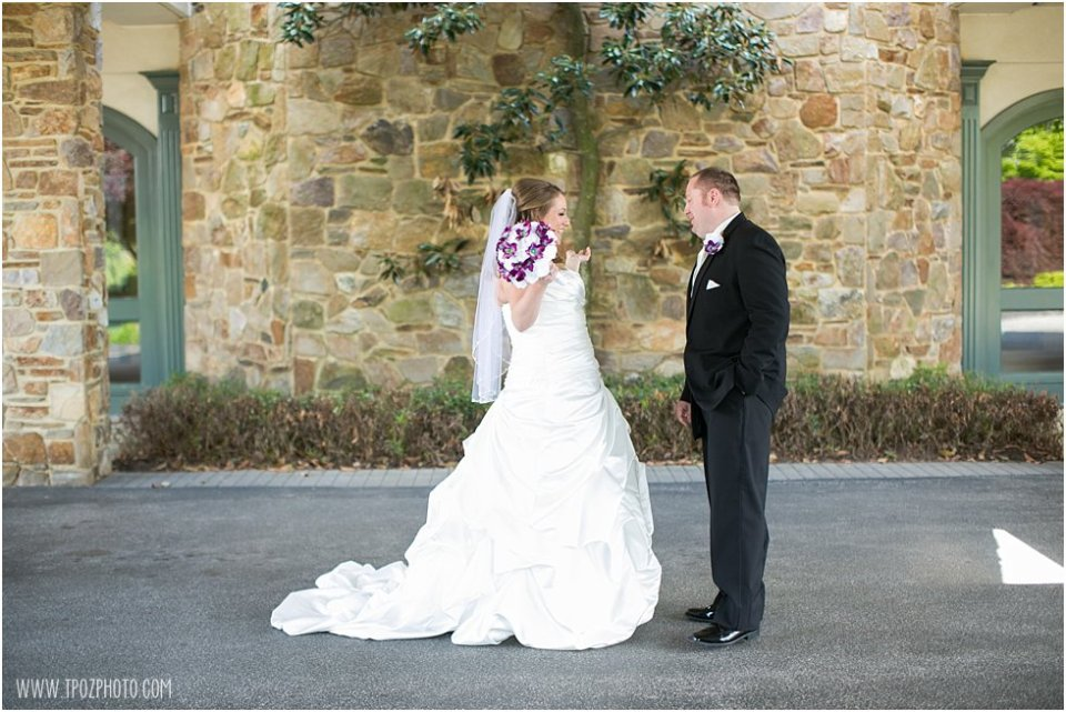 Wedding First Look at Hillendale Country Club  •  tPoz Photography  •  www.tpozphoto.com