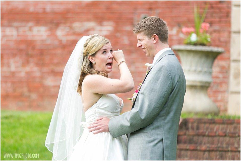Evergreen Wedding First Look •  tPoz Photography  •  www.tpozphoto.com