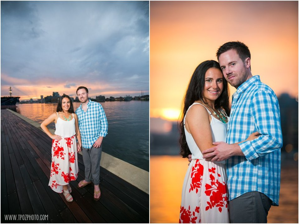 Sunset Tide Point Engagement Photos •  tPoz Photography  •  www.tpozphoto.com