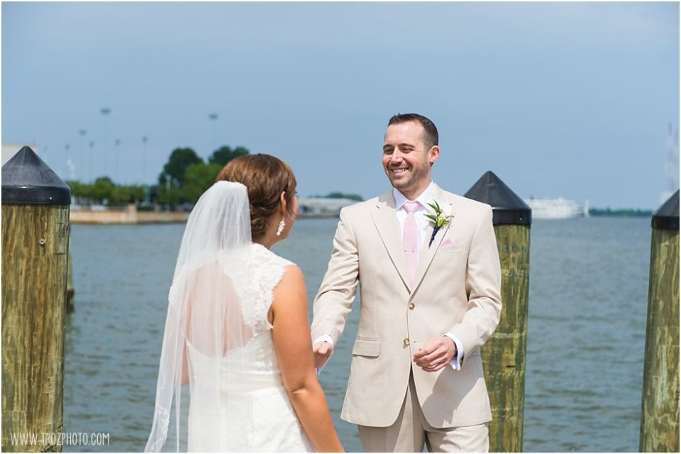 Wedding First Look Docks of Annapolis  •  tPoz Photography  •  www.tpozphoto.com