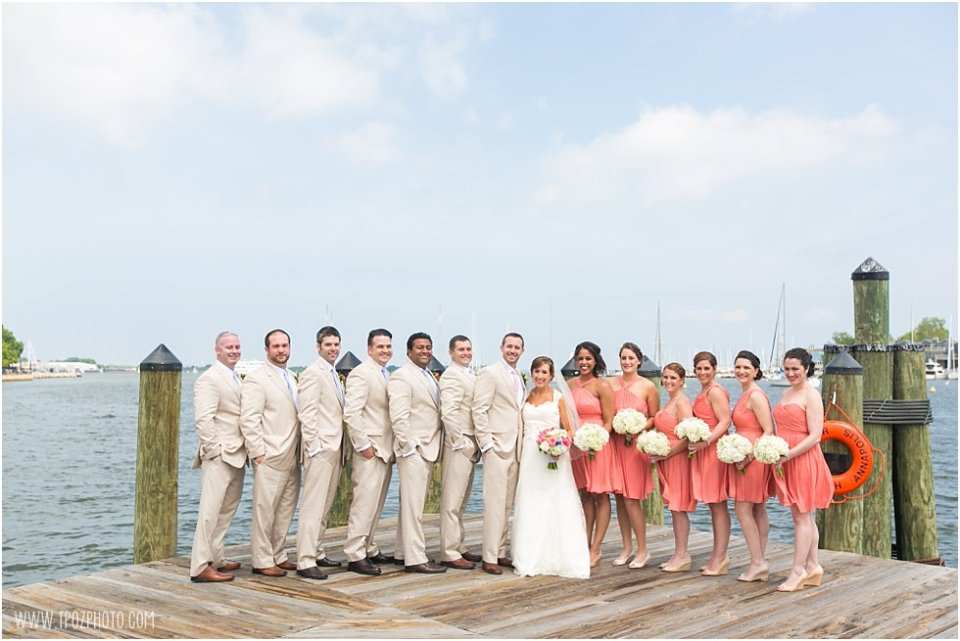 Wedding Bridal Party Portraits Docks of Annapolis  •  tPoz Photography  •  www.tpozphoto.com