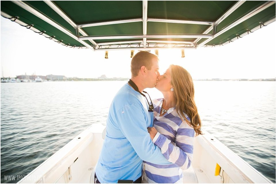 Baltimore Engagement Photos on a boat  •  tPoz Photography  •  www.tpozphoto.com
