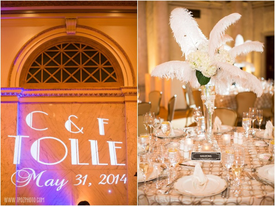 Gatsby themed wedding at The Grand Historic Venue   •  tPoz Photography  •  www.tpozphoto.com