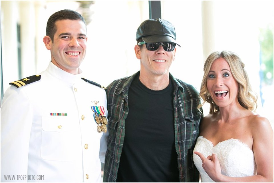 We ran into Kevin Bacon! - Loews Annapolis Wedding Prep  •  tPoz Photography  •  www.tpozphoto.com