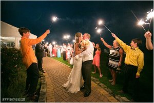 Silver Swan Bayside Wedding Sparklers Exit