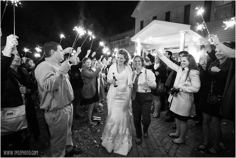 Sparklers at The Oaks Wedding - Same-sex wedding  •  tPoz Photography  •  www.tpozphoto.com